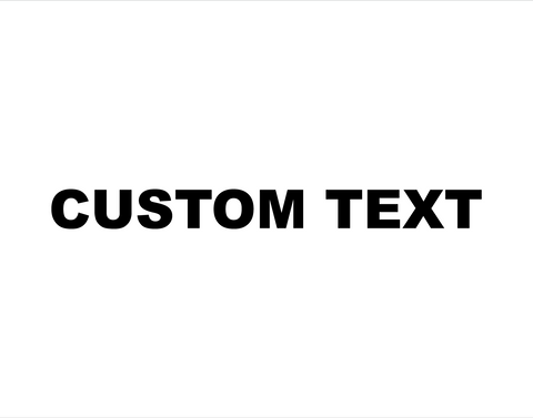 Custom Sticker Arial Black Font - cartattz1.myshopify.com