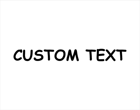 Custom Sticker Comic Sans Font - cartattz1.myshopify.com