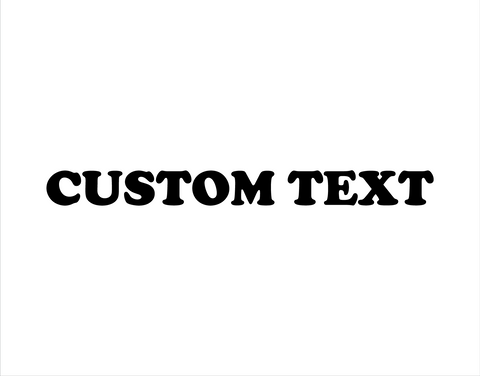 Custom Sticker Cooper Black Font - cartattz1.myshopify.com
