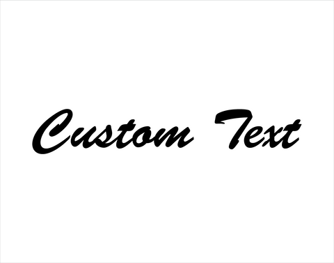 Custom Sticker Brush Script Font - cartattz1.myshopify.com