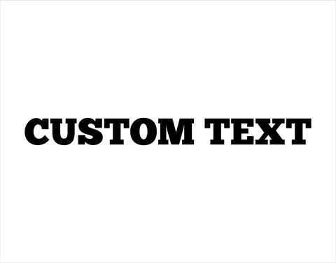 Custom Sticker Chunk Five Ex Font - cartattz1.myshopify.com