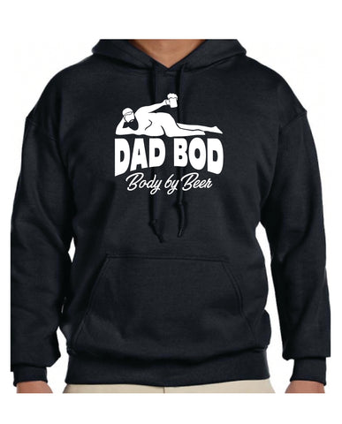 Dad Bod Body by Beer Hoodie Sweatshirt - cartattz1.myshopify.com