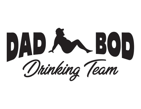 Dad Bod Drinking Team Trucker Sticker - cartattz1.myshopify.com