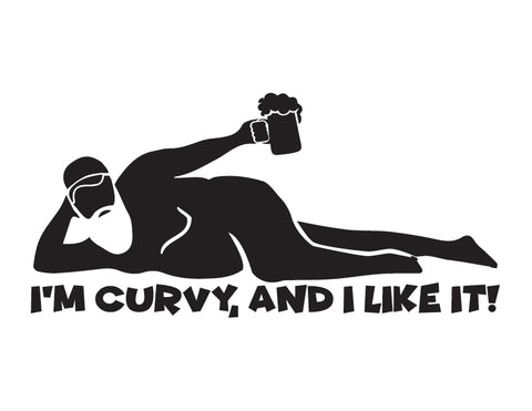 Dad Bod Sticker I'm Curvy Sticker - cartattz1.myshopify.com