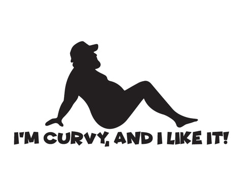 Dad Bod Sticker I'm Curvy Trucker Sticker - cartattz1.myshopify.com