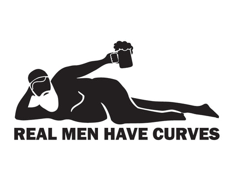 Dad Bod Sticker Real Men have Curves Sticker - cartattz1.myshopify.com