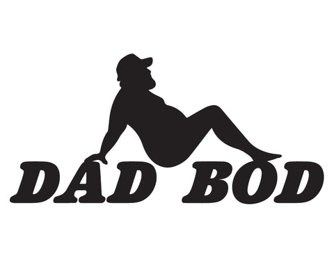 Dad Bod Trucker Decal - cartattz1.myshopify.com