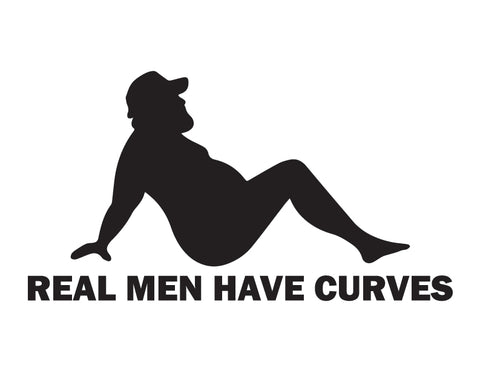 Dad Bod Trucker Sticker Real Men have Curves Sticker - cartattz1.myshopify.com