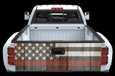 Firefighter FlagTailgate Wrap