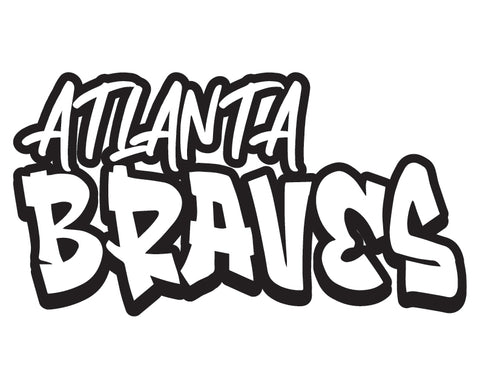 MLB Graffiti Decals atlanta braves - cartattz1.myshopify.com
