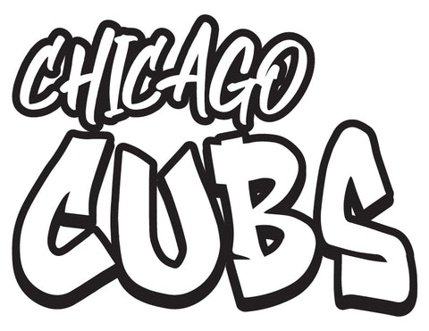 MLB Graffiti Decals chicago cubs - cartattz1.myshopify.com