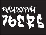 NBA Graffiti Decals- Philadelphia 76ers - cartattz1.myshopify.com