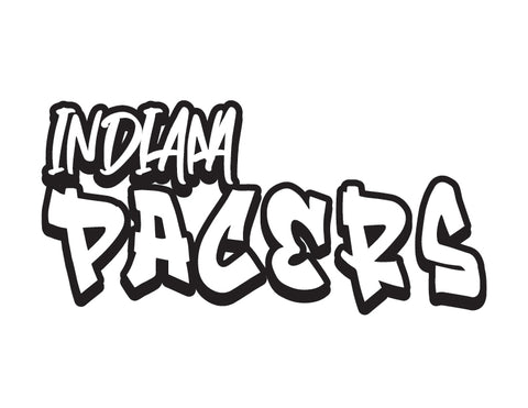 NBA Graffiti Decals- Indiana Pacers - cartattz1.myshopify.com