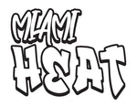 NBA Graffiti Decals-Miami Heat - cartattz1.myshopify.com