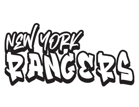 NHL Graffiti Decals-New York Rangers - cartattz1.myshopify.com