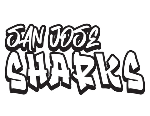 NHL Graffiti Decals-San Jose Sharks - cartattz1.myshopify.com