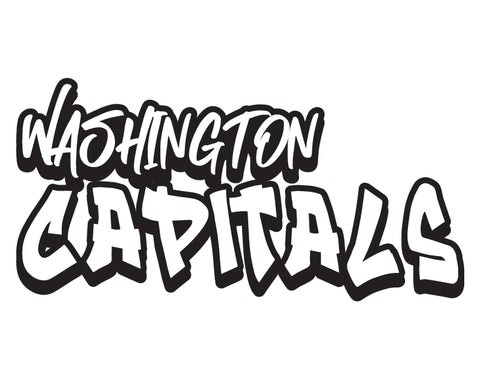NHL Graffiti Decals-Washington Capitals - cartattz1.myshopify.com