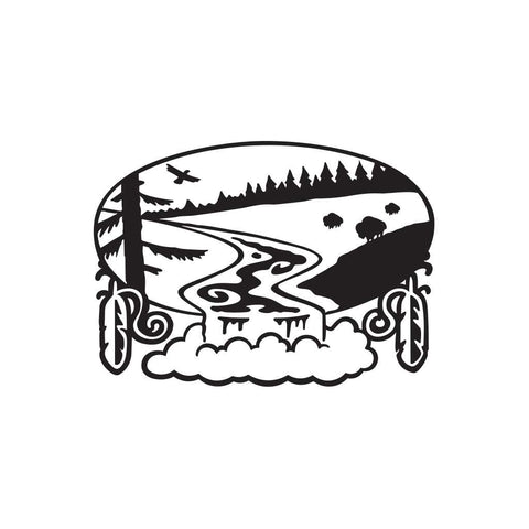 Native American River Sticker 1 - cartattz1.myshopify.com