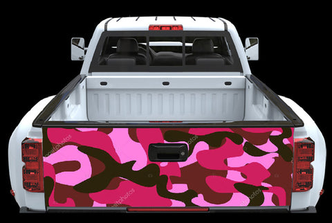 Pink CamoTailgate Wrap