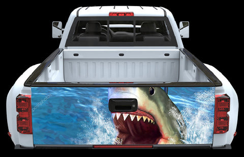 Shark AttackTailgate Wrap - cartattz1.myshopify.com