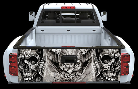 Skuls and Devil Tailgate Wrap