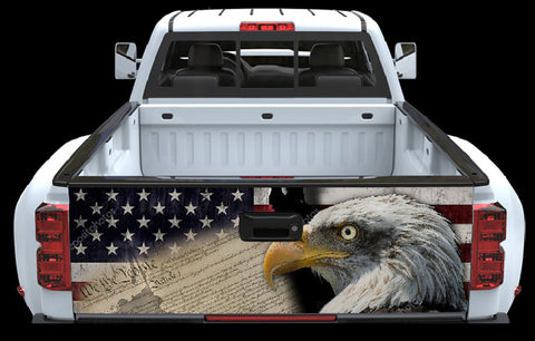 We the people American Flag and Eagle Tailgate Wrap2
