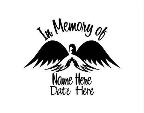 In Memory of Decal with Angel - cartattz1.myshopify.com