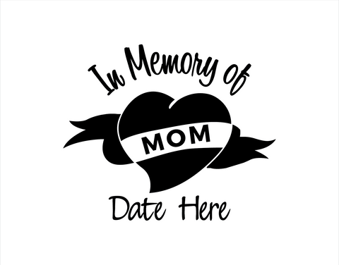 In Memory of Mom Decal 1
