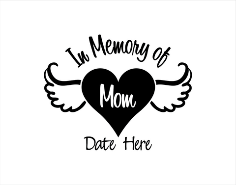 In Memory of Mom Decal 2 - cartattz1.myshopify.com