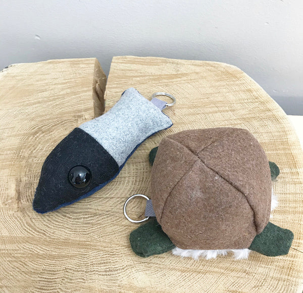 Turtle and Fish keychain