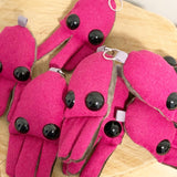 One hot pink jellyfish keychain