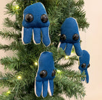 *Shipping included *Two blue jellyfish ornaments