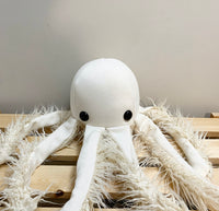 Small White Octopus Pillow