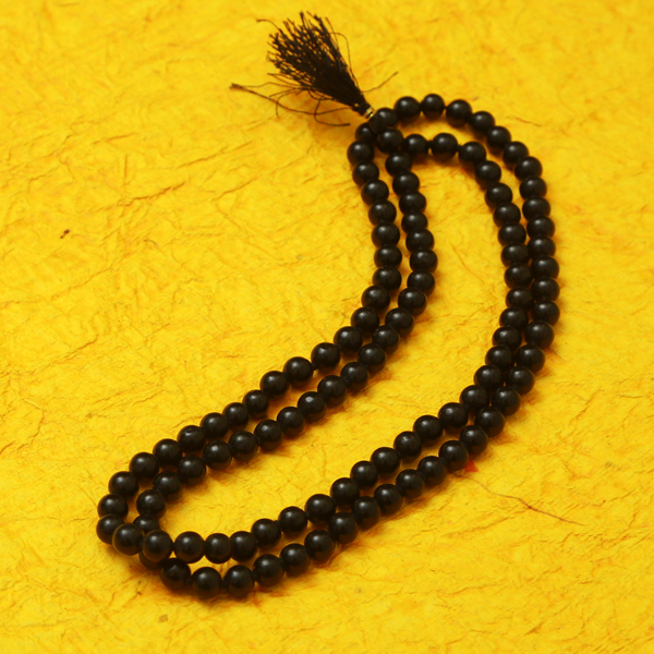Black Hakik Mala/Rosary 6mm (108 Beads)
