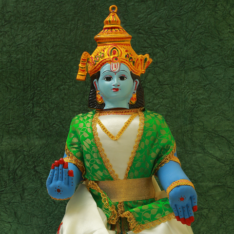Lord Vishnu Idol Body with Face for Pooja Decoration