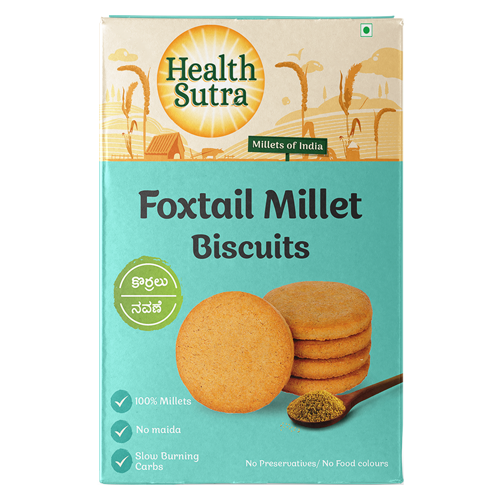 Foxtail Millet Biscuits - Pack of 10