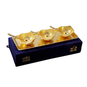 Gold Plated Apple Shaped Bowl Set