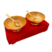 Gold Plated Brass Carving Bowl