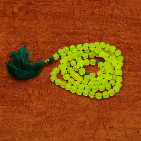 Parrot Green Hakik Mala/Rosary 6mm (108 Beads)
