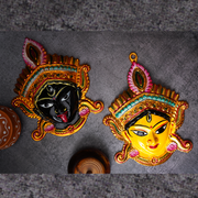 Kali Goddess Face Idol For Puja