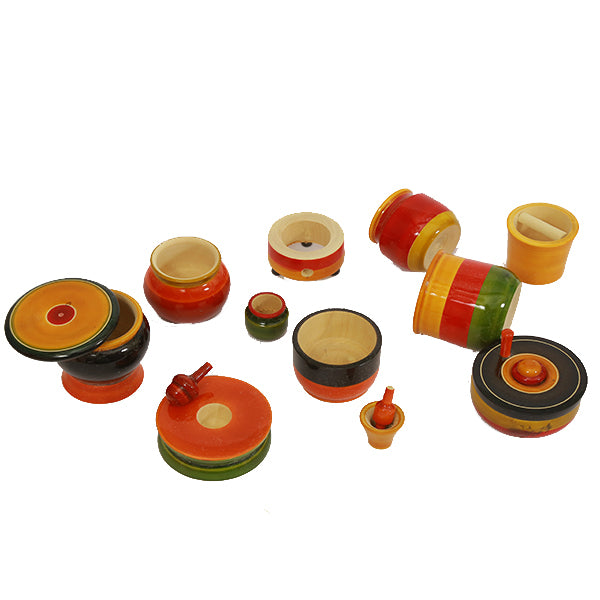 Etikoppaka Toys Wooden  Kitchen Set