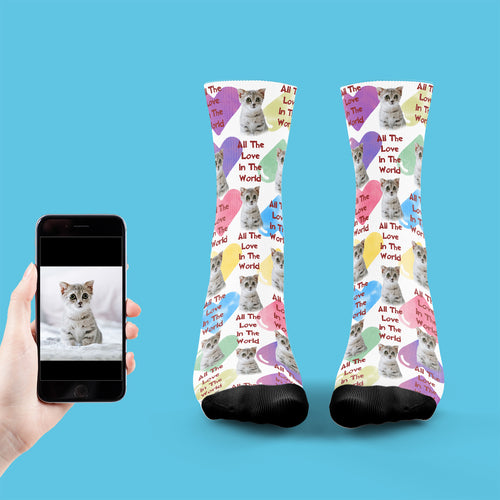 All The Love In The World Cat Socks