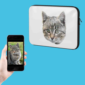 Cat Photo Laptop Sleeve
