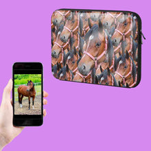 Load image into Gallery viewer, Horse Photo Laptop Sleeve