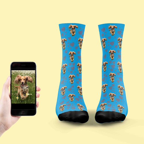 Footprints On Our Heart Dog Socks