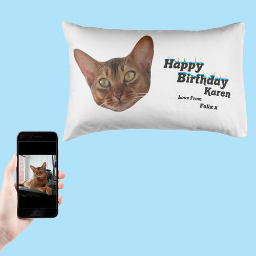 Happy Birthday From The Cat Pillowcase