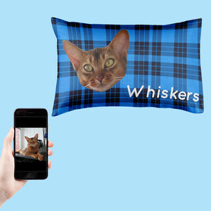Tartan Cat Face Pillowcase