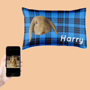 Tartan Rabbit Face Pillowcase