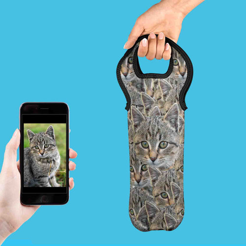 Cat Photo Bottle Cooler