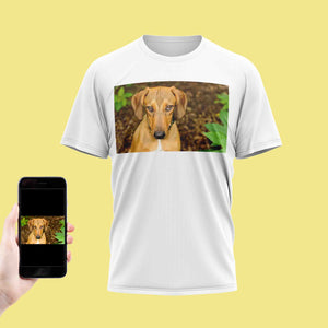 Your Dog Photo On A T-Shirt